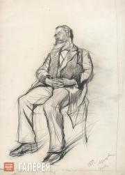 Serov Valentin. Mr. Tagnon Sleeping on a Chair. 1884