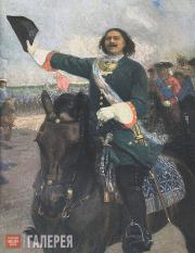 Repin Yury. The Great Leader (Peter I Before the Battle of Poltava). 1907-1910