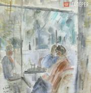 Falk Robert. In the Café. Paris. 1937