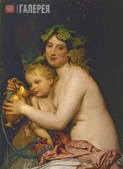 Бруни Федор. Вакханка, поящая амура. 1828