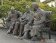 "Tsereteli Zurab. Monument ""THE Big Three"" (from right: Joseph Stalin, Franklin R"