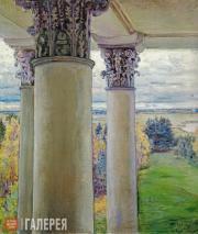 Якунчикова Мария. Введенское. Колоннада и парк из окна. 1894