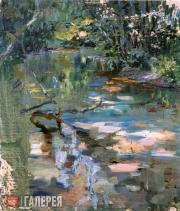 Якунчикова Мария. Ручей в лесу. Около 1893