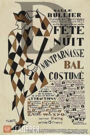 André Lhote.  Poster for the Fête de Nuit ball. 1922