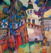 Lentulov Aristarkh. The Grates from the Tower. New Jerusalem. 1917