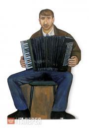 """Nazarenko Tatiana. Street Musician. Figure from the """"Underpass"""" installation. 19"""
