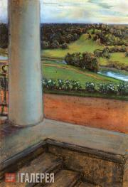 Якунчикова Мария. Вид с террасы. 1899