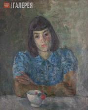 Falk Robert. Portrait of Tatiana Selvinskaya (in blue). 1944