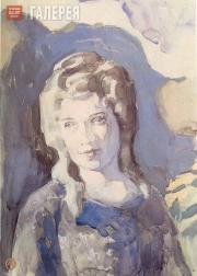 Борисов-Мусатов Виктор. Дама в голубом. 1904