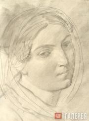 Karl BRIULLOV. Head of a Woman. 1843-1847