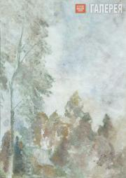 Falk Robert. Autumn Paysage with Birch Tree. 1940s