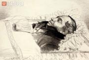 Бруни Федор. Пушкин в гробу. 1837