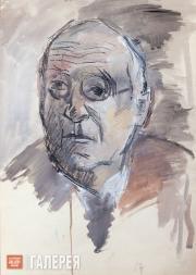 Falk Robert. Portrait of Aleksander Gabrichevsky. 1952