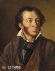Tropinin Vasily. Alexander Pushkin. 1827