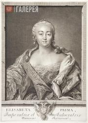 Yevgraf CHEMESOV. Portrait of Empress Elizabeth (Elizaveta Petrovna). 1761