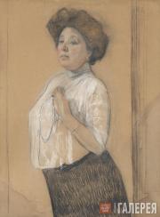 Serov Valentin. Portrait of Nadezhda Lamanova. 1911