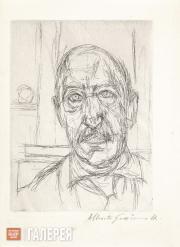 Giacometti Alberto. Portrait of Iliazd. 1961
