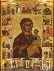 """The Miracle-working Icon """"The Virgin Hodegetria of Ustuzhna"""" . Late 15th – early"""