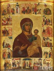 Неизвестный художник. Чудотворная икона «Богоматерь Одигитрия Устюженская». Коне