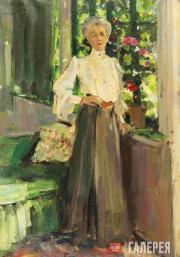 Korovin Konstantin. Portrait of Gurly Telyakovskaya. 1905