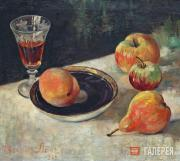 Lang Yevgenia. Still-life with a Peach. 1960s