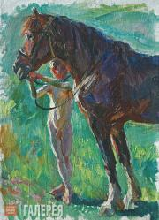 Plastov Arkady. The Boy and the Horse. 1930s
