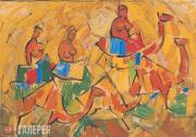 Женщины на верблюдах. 1920
