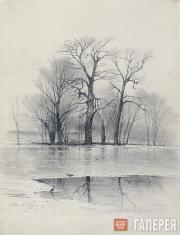 Savrasov Alexei. Spring Landscape (Early Spring). 1876