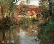 Thaulow Fritz. The River at Manéhouville, Normandy