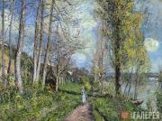 Alfred SISLEY. Banks of the Seine at By. c. 1880-1881