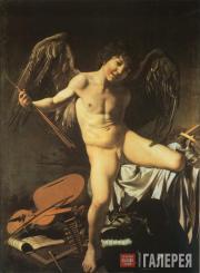Caravaggio (Michelangelo Merisi da Caravaggio). Love Triumphant. 1601–1602