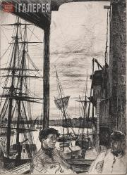 Whistler James McNeill. Rotherhithe. 1860