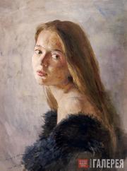 Андрияка Сергей. Портрет Наташи. 1988