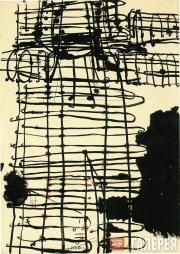 Atsuko TANAKA. Drawing after Electric Dress. 1956