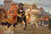 Mikhail Avilov. Tsarevich Ivan Rides Out. 1913