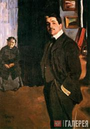 Léon Bakst. Portrait of Diaghilev with his Nanny. 1906