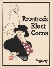 BEGGARSTAFF Brothers  (James PRYDE, William NICHOLSON). Rowntree's Elect Cocoa.