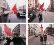 Gmelin Felix. Farbtest, Die Rote Fahne II. 2002