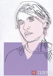 Warhol Andy. Self-portrait. Wallpaper. 1978