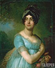 Vladimir  Borovikovsky. Portrait of Darya Semenovna Yakovleva. 1801