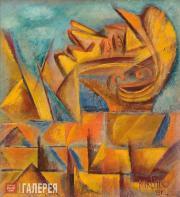 David Burliuk. Bricklayer. 1912