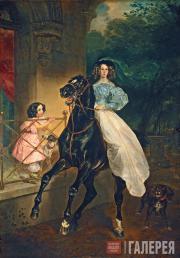 К.П. Брюллов.  Всадница. 1832