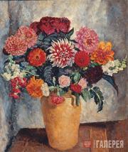 Mashkov Ilya. Bright Bouquet Against Dark Background. 1936