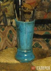 Serov Valentin. Blue Vase with Brushes. 1875