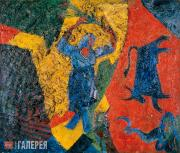 David BURLIUK. Woman Reaper. 1914