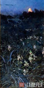 Golovin Alexander. Sadness. Crescent Moon. 1894