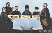 Pirosmani (Pirosmanishvili) Niko. Feast. 1905-1907