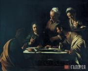 Caravaggio (Michelangelo Merisi da Caravaggio). The Supper at Emmaus. 1606