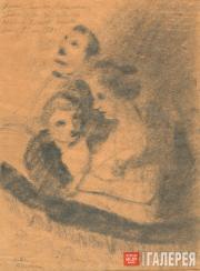 Chekrygin Vasily. In the Theatre Box. 1918