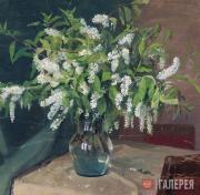 Kuzginov Konstantin. Bird-Cherry Branches. 1954
